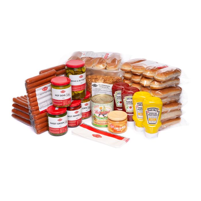 beef hot dog party paket 72 st ck packages zutaten hot dog world. Black Bedroom Furniture Sets. Home Design Ideas